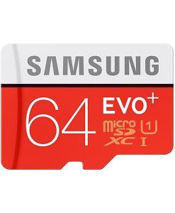 Samsung 64GB MicroSDXC Evo+ Class 10 W/USB-Adapter