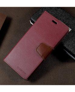Samsung Galaxy S8+ Mercury Sonata Suojakotelo, Wine Red.