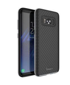Samsung Galaxy S8+ IPAKY Hybrid Case Cover, Harmaa.