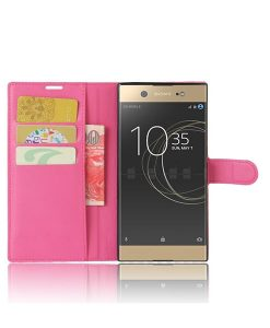 Sony Xperia XA1 Ultra Wallet Leather Case, Rose.