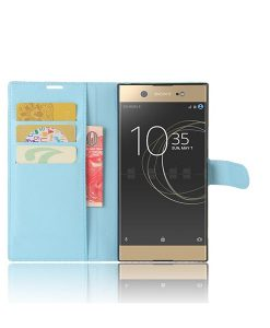 Sony Xperia XA1 Ultra Wallet Leather Case, Sininen.