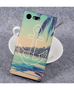 Sony Xperia XZ Premium Wallet Flip Cover, Anchor.