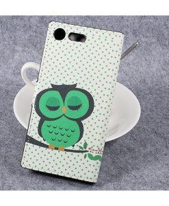 Sony Xperia XZ Premium Wallet Flip Cover, Owl 1.
