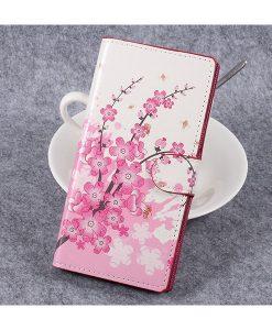 Sony Xperia XZ Premium Wallet Flip Cover, Pink Plum.