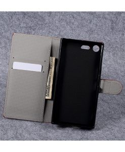 Sony Xperia XZ Premium Wallet Flip Cover, US Flag.