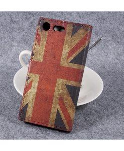 Sony Xperia XZ Premium Wallet Flip Cover, UK Flag.