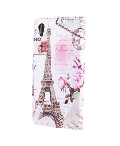 Sony Xperia XA1 Ultra Pattern Printing Wallet Case, Eiffel Tower