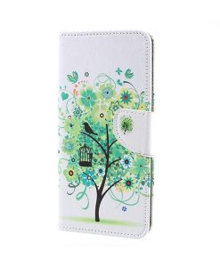 Sony Xperia XA1 Ultra Pattern Printing Wallet Case, Green Tree.