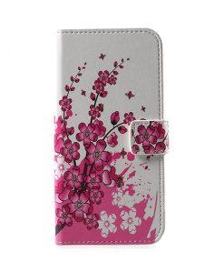 LG G6 Pattern Printing Wallet Case, Pink Plum.