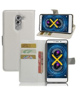 Huawei Honor 6X Wallet Leather Case, Valkoinen.