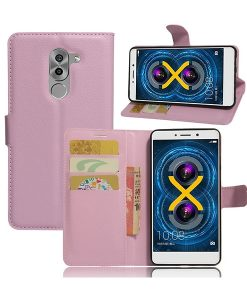 Huawei Honor 6X Wallet Leather Case, Pink.