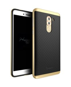 Huawei Honor 6X IPAKY Hybrid Case Cover, Gold.