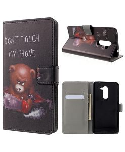 Huawei Honor 6X Pattern Printing Wallet Case, Cool Bear.