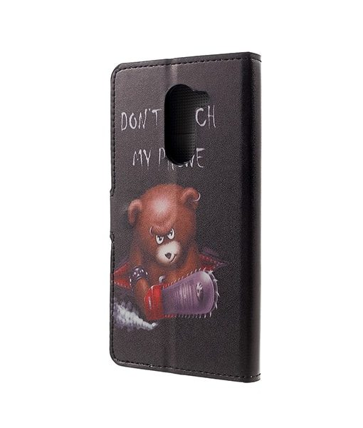 Huawei Honor 6X Pattern Printing Wallet Case, Cool Bear.