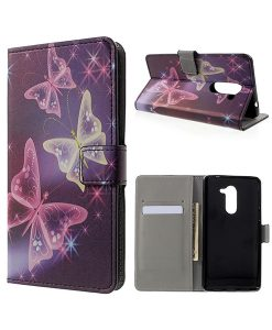 Huawei Honor 6X Pattern Printing Wallet Case, Shiny Butterfly.