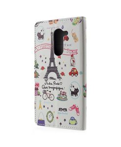 Huawei Honor 6X Pattern Printing Wallet Case, Eiffel Tower.