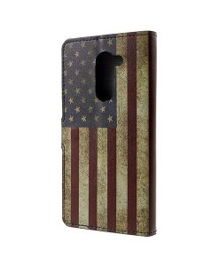 Huawei Honor 6X Pattern Printing Wallet Case, US Flag.