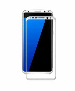 Samsung Galaxy S8+ AMORUS Full Size Panssarilasi, Valkoinen.