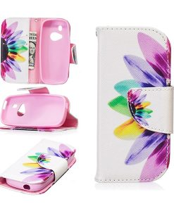 Nokia 3310 Pattern Printing Wallet Case, Colorful Petals.