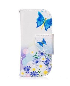 Nokia 3310 Pattern Printing Wallet Case, Blue Butterfly.