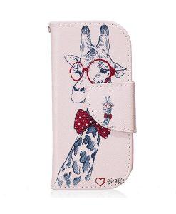 Nokia 3310 Pattern Printing Wallet Case, Giraffe.