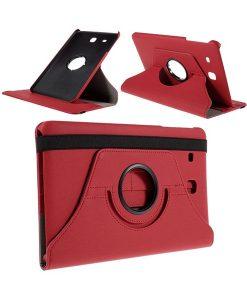 Samsung Galaxy Tab E 9.6 Rotary Case, Punainen.