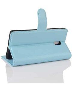Nokia 3 Wallet Leather Case, Sininen.