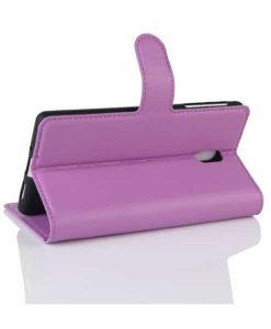 Nokia 3 Wallet Leather Case, Lila.