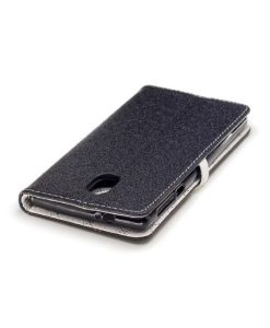 Nokia 3 Love Heart Wallet Cover, Musta.