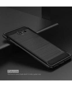 Samsung Galaxy J5 (2017) IPAKY Carbon Fiber Case, Musta.