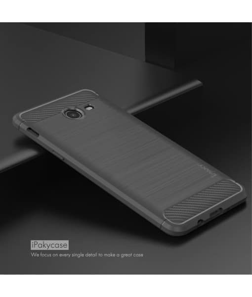 Samsung Galaxy J5 (2017) IPAKY Carbon Fiber Case, Harmaa.