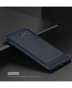 Samsung Galaxy J5 (2017) IPAKY Carbon Fiber Case, Dark Blue.