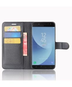 Samsung Galaxy J5 (2017) Wallet Leather Case, Musta.