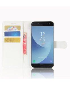 Samsung Galaxy J5 (2017) Wallet Leather Case, Valkoinen.