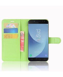 Samsung Galaxy J5 (2017) Wallet Leather Case, Virhreä.