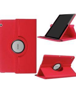 """Huawei MediaPad T3 10"""" Rotary Stand Suojakotelo, Punainen."""