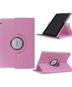 """Huawei MediaPad T3 10"""" Rotary Stand Suojakotelo, Pink."""
