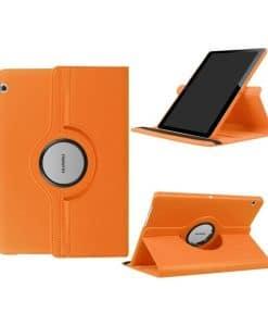 "Huawei MediaPad T3 10"" Rotary Stand Suojakotelo, Oranssi."