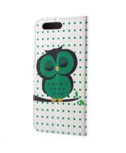 Huawei Honor 9 Pattern Printing Wallet Case, Owls 1.