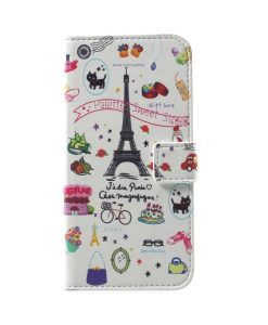 Huawei Honor 9 Pattern Printing Wallet Case, Eiffel Tower 1.