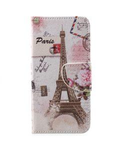 Huawei Honor 9 Pattern Printing Wallet Case, Eiffel Tower 2.