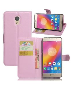 Lenovo P2 Wallet Leather Case, Pink.