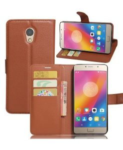 Lenovo P2 Wallet Leather Case, Ruskea.
