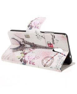Lenovo P2 Pattern Printing Wallet Case, Eiffel Tower.