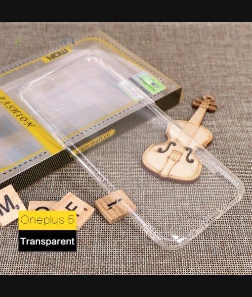 OnePlus 5 MOFI Ultra Thin Silikonisuoja, Kirkas.