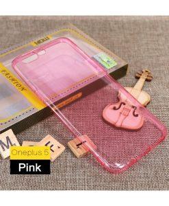 OnePlus 5 MOFI Ultra Thin Silikonisuoja, Pink.