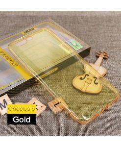 OnePlus 5 MOFI Ultra Thin Silikonisuoja, Keltainen.