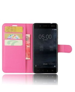 Nokia 5 Wallet Leather Case, Rose.