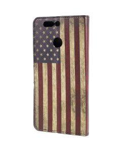 Huawei Honor 8 Pro Pattern Printing Wallet Case, US Flag.