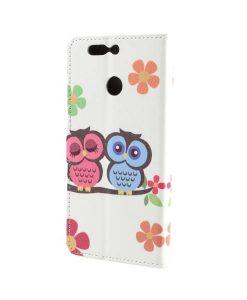 Huawei Honor 8 Pro Pattern Printing Wallet Case, Owl 2.